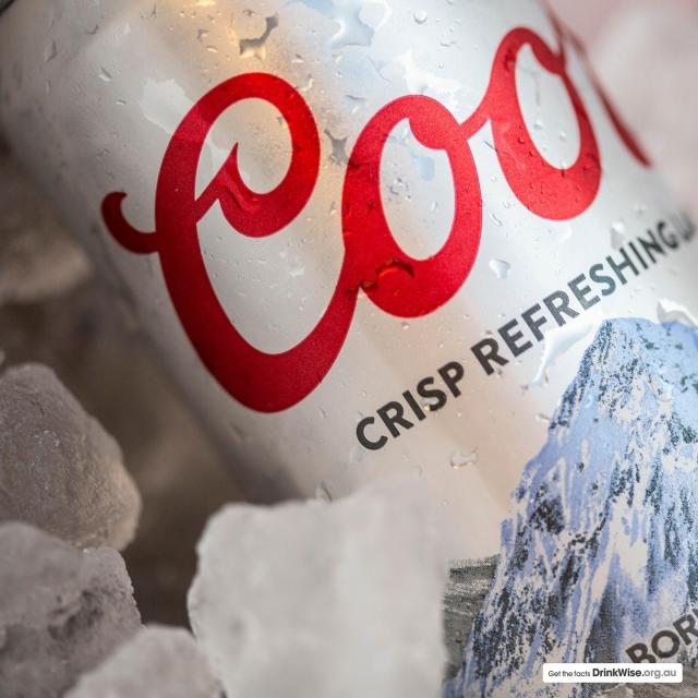 The mountains on your can will tell your when your beer is cold enough to drink.... need we say more?
